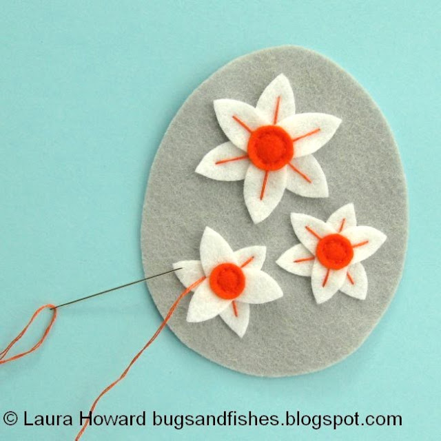 add embroidery to the narcissi
