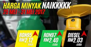 Thumbnail image for Harga Minyak Untuk 25 Mei Hingga 31 Mei 2017, Naik 4 Sen Sahaja