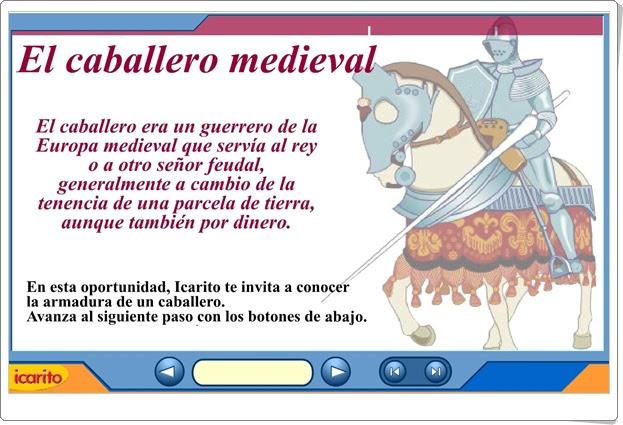 """""""El caballero medieval"""" (Animación de historia medieval)"""