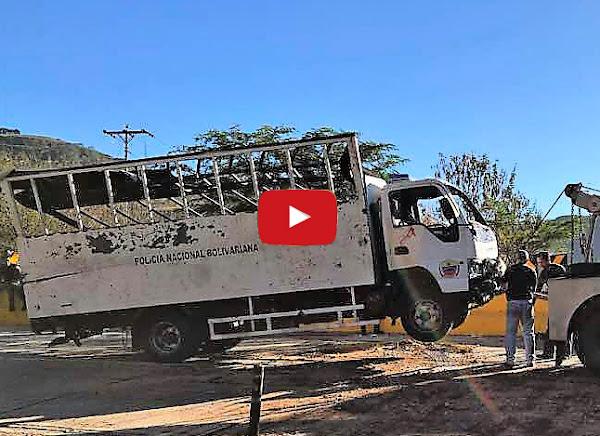 Camión cargado de asesinos de estudiantes se volcó en El Junquito