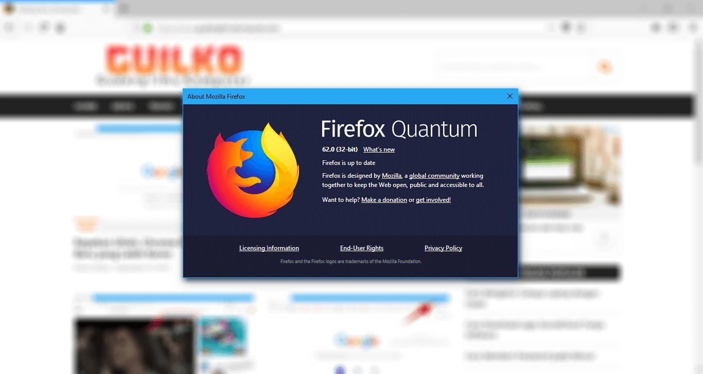 Update ke Firefox Quantum Sekarang Juga