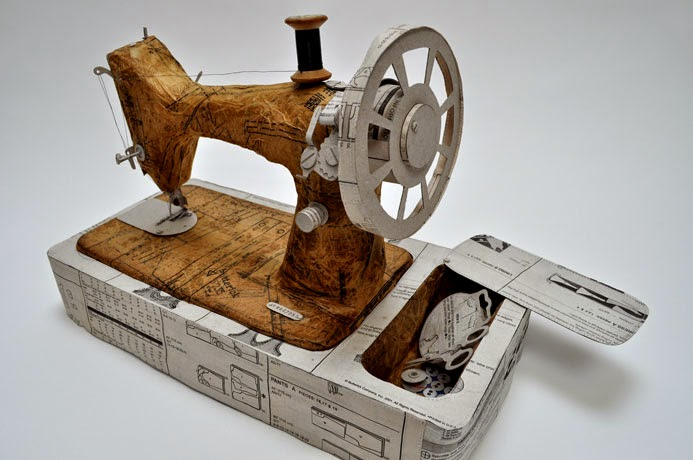 18-Sewing-Machine-Jennifer-Collier-Stitched-Paper-Sculptures-www-designstack-co