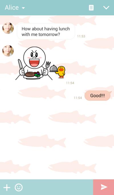 salmon theme