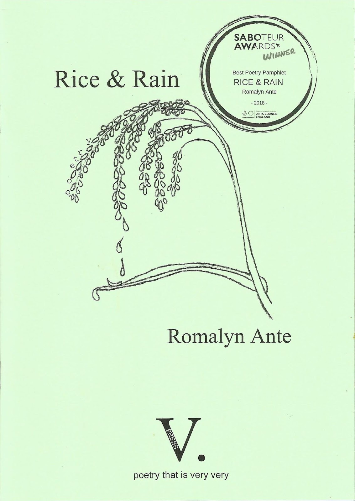 a1469758e41e1 The poetry in Romalyn Ante's Rice & Rain is very rich and very distinct.