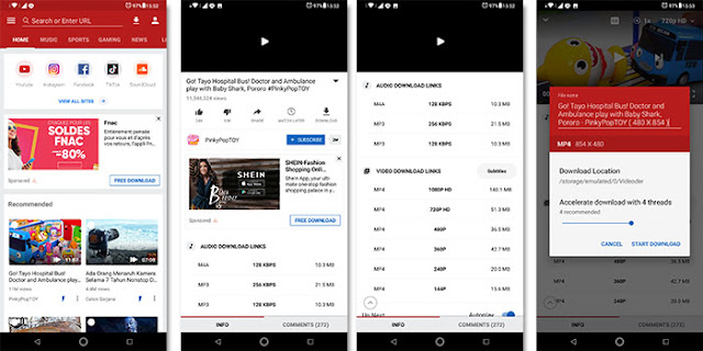 Cara Download Video Youtube Dengan Videoder APK