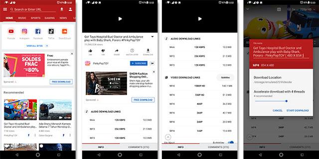 Cara Download Video Youtube Dengan Videoder APK