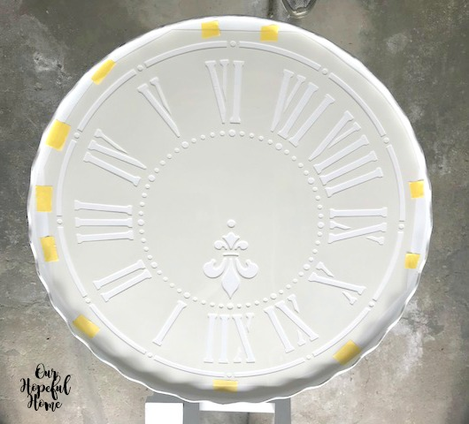 French clock stencil