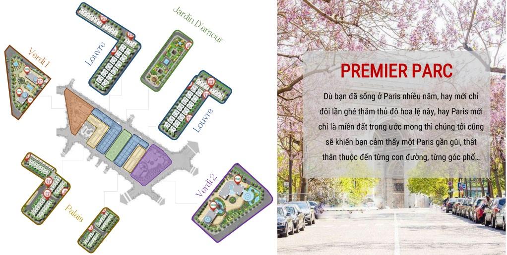 phân khu dự án flc premier parc