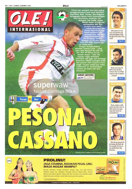 OLE! INTERNASIONAL: PESONA CASSANO