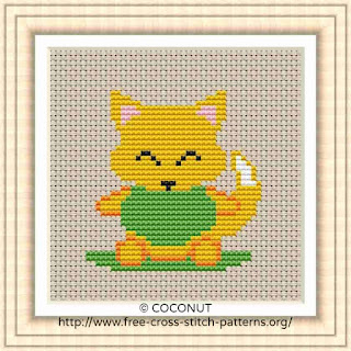 BABY FOX, FREE AND EASY PRINTABLE CROSS STITCH PATTERN