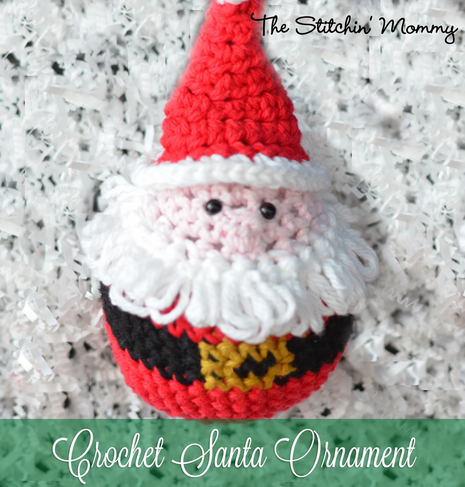 Crochet Santa Ornament - Free Pattern - The Stitchin Mommy