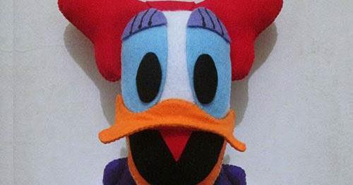 jam dinding flanel karakter kartun boneka daisy duck