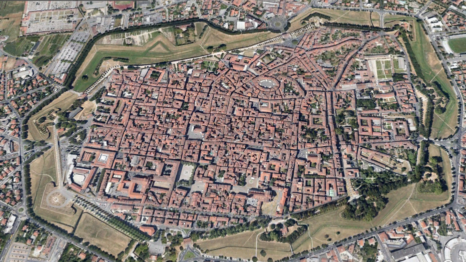 """Lucca, Italy - Fortified """"Star"""" City"""