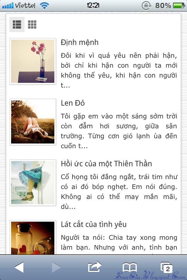 [Share] Template Blogger Giao Diện Wap/Web