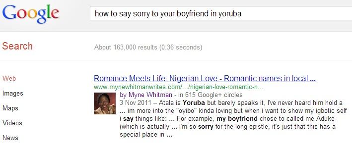 How to say Sorry to your Boyfriend in Yoruba?