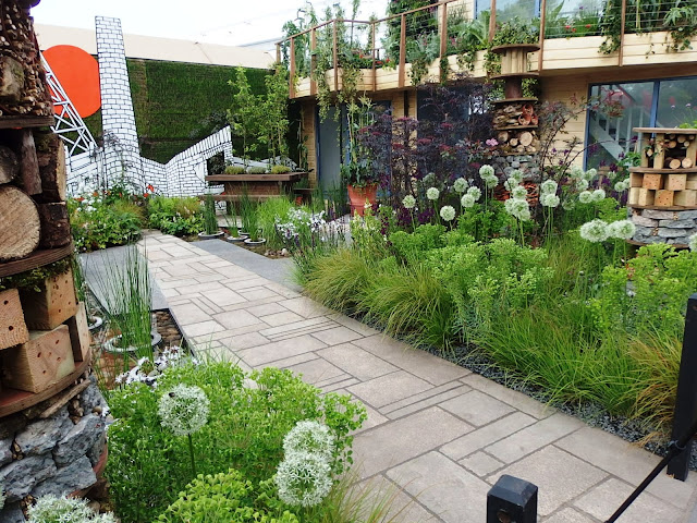 Part of the Greening Grey Britain garden by Nigel Dunnett at Chelsea Flower Show