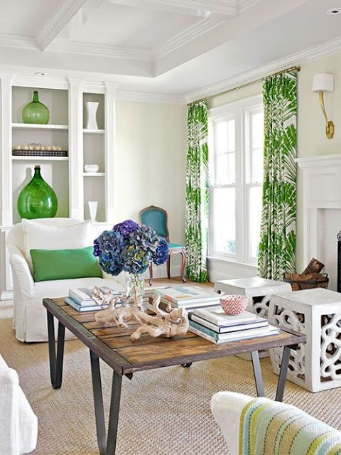 Everything Coastal....: Decorating with Green - Our Fave ...