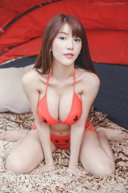 Alisa Rattanachawangkul Dáng Thon Vếu Bự Với Bộ Bikini Pokemon Cực Độc