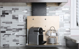 Touchstone Whisper Lift II and Nespresso® espresso maker.