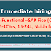 New JD: Sr Finance Functional-SAP Fico(Controlling Expert), 6-10Yrs, 15-24LPA, Noida for IT Firm; Job Code: JD Code: 3QSTECH5NIP/SAPFICO610Y1824L/15120 Submit profile who can join within 15 days.