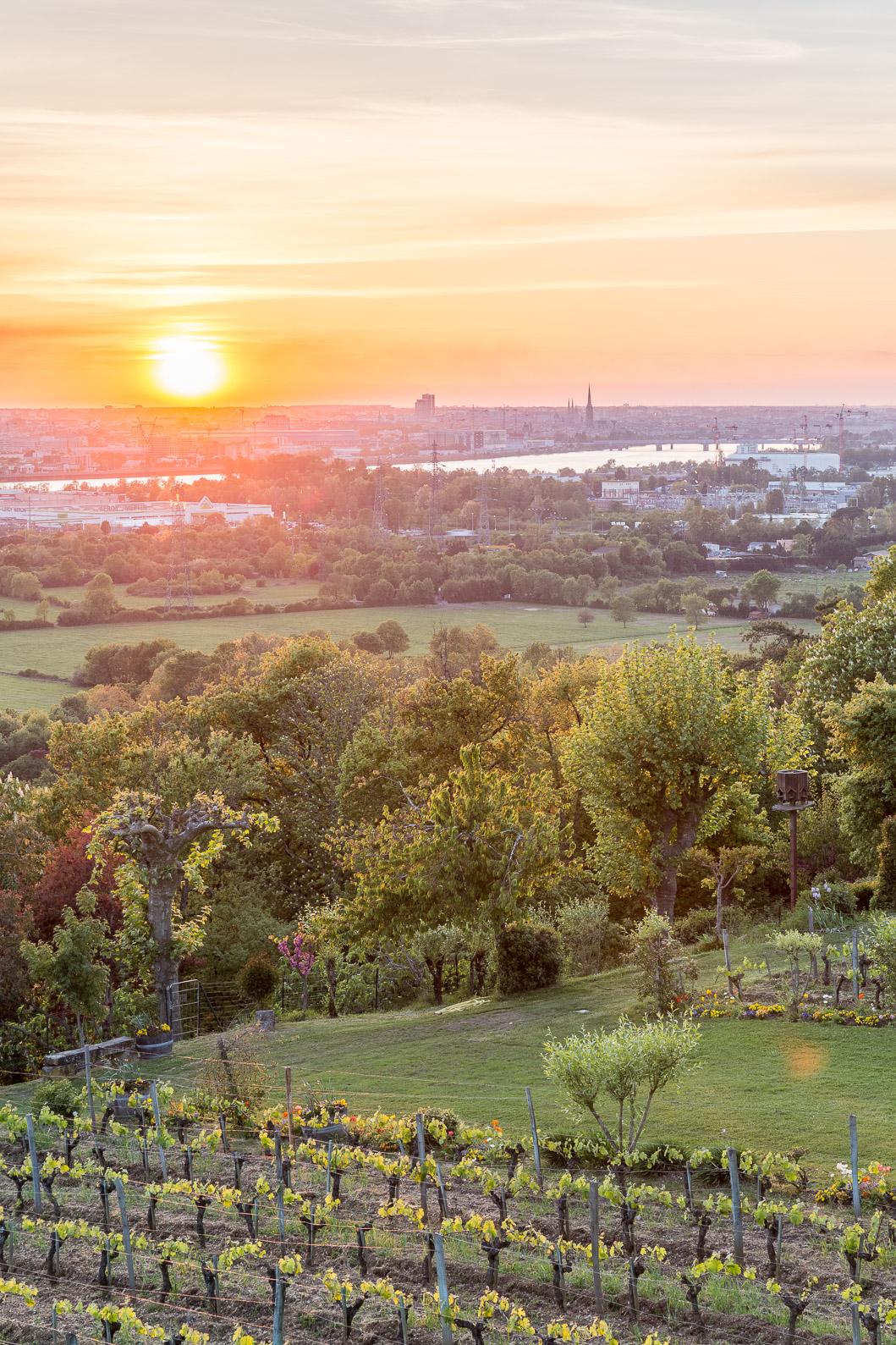 Coucher soleil Bordeaux depuis Bouliac