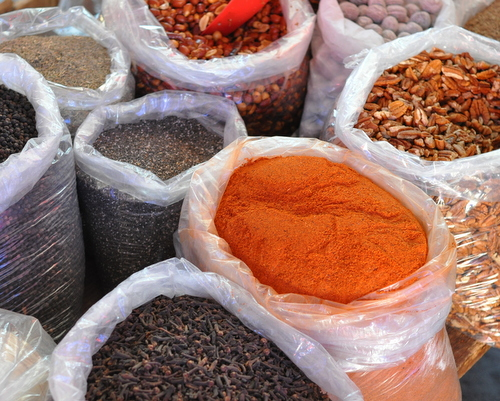 Spice bags in Oaxaca, Mexico, inspiration for Deep Mexico, ingredient-driven Mexican meal prep ♥ KitchenParade.com.
