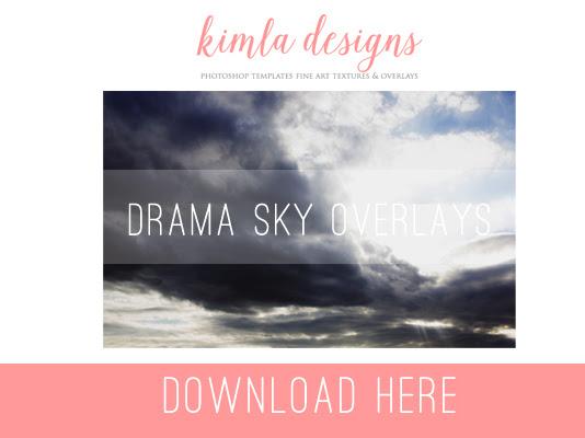 Drama Clouds Photo Overlays I Freebie Friday