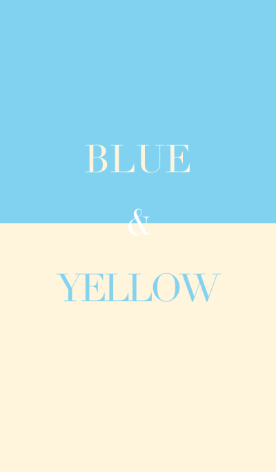 blue & yellow .
