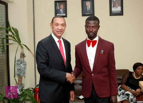 Abdulahi Olatoyan Meets Ben Murray-Bruce (photos)