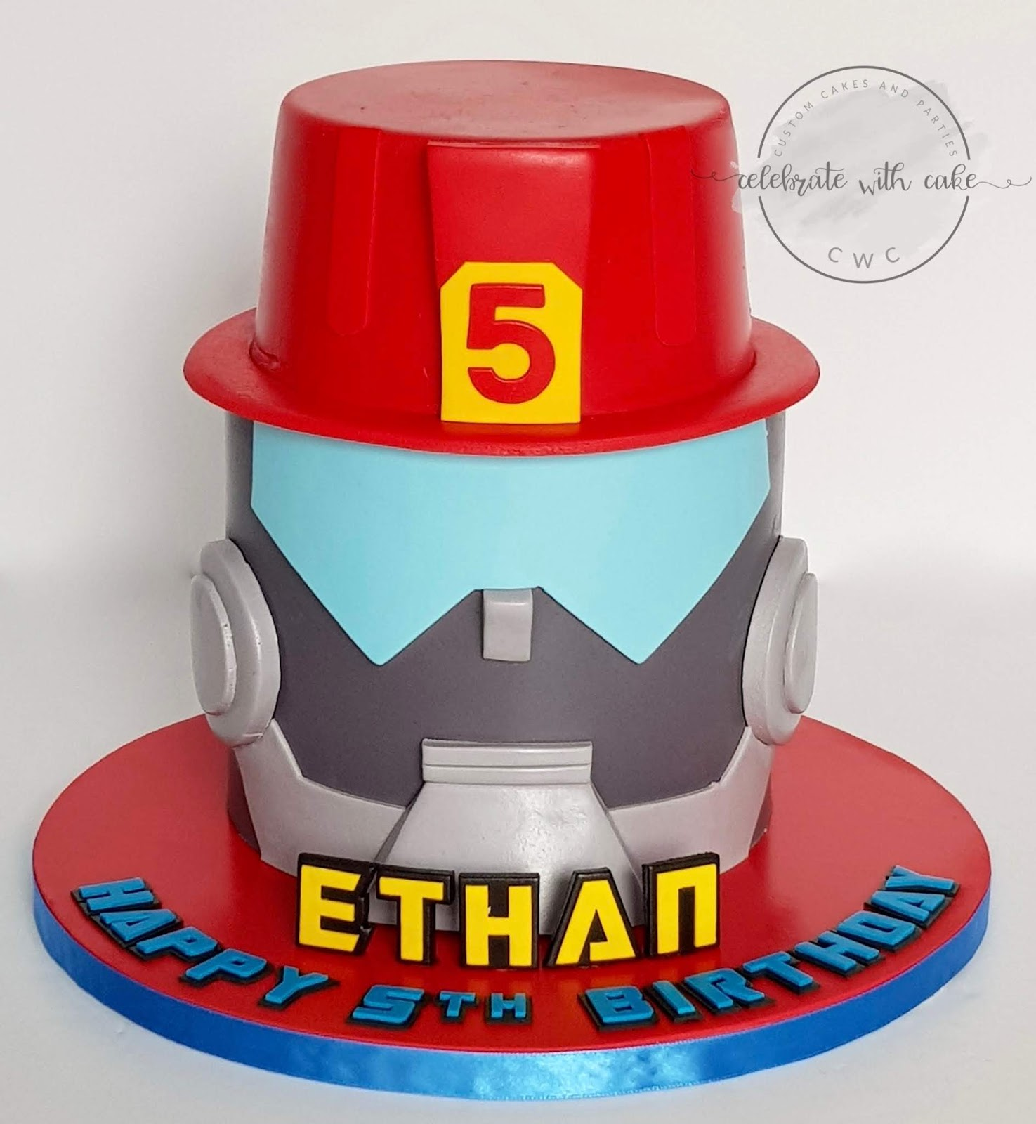 Groovy Celebrate With Cake Rescue Bot Featuring Heatwave Single Tier Cake Funny Birthday Cards Online Alyptdamsfinfo