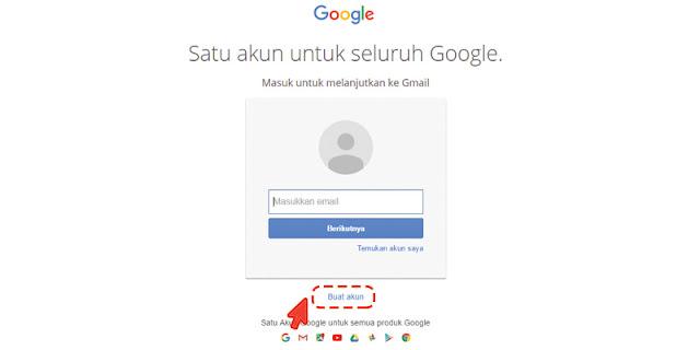 Halaman Cara Membuat Akun Gmail Baru