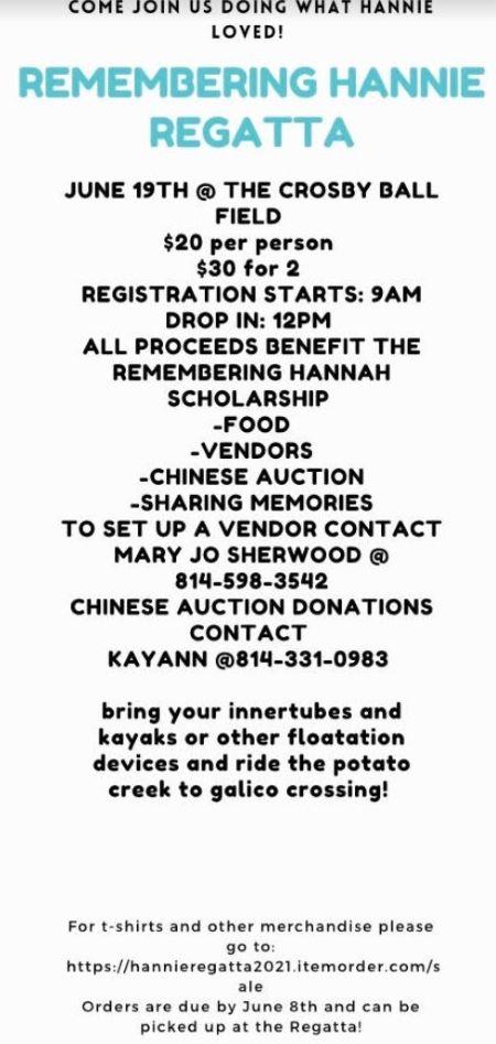 6-19 Remembering Hannie Regatta Scholarship