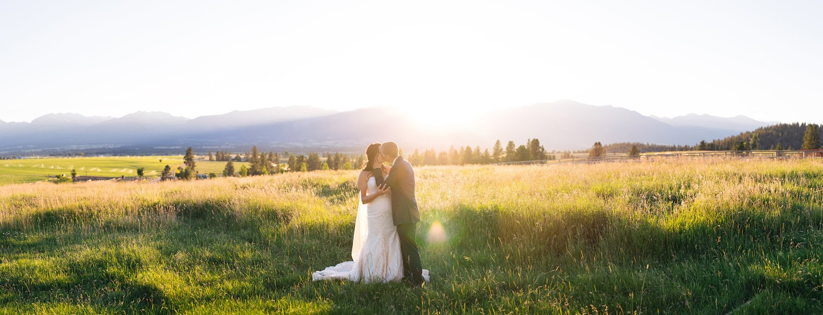 Bride, Montana, Mountains, Sunset