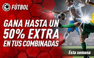 sportium Fútbol Internacional: Extra en Combinadas 2-6 enero
