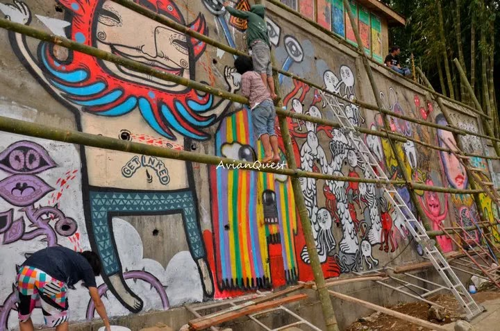 Tamawan Village Making of a Graffitti Mural Baguio City Philippines 30