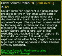 naruto castle defense 6.2 Snow Sakura Dance detail
