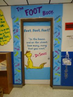Dr. Seuss Foot Book Elementary Door Decorating Contest