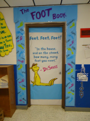 Dr. Seuss Foot Book Elementary Door Decorating Contest