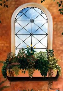 fachadas-y-balcones-con-flores pinturas-balcones-fachadas-flores