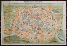 Antique Prints Map Of Paris Vince Szilagyi