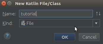 Memberi nama pada File/Class Kotlin