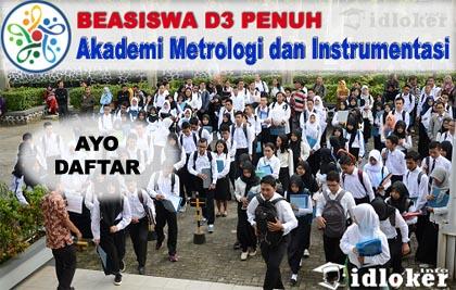 Beasiswa D3 Penuh Akademi Metrologi dan Instrumentasi (Akmet) Kemendag RI 2019