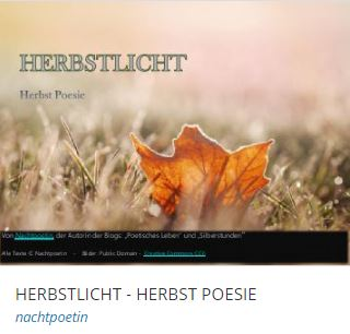 Herbst Poesie, Poetische Gedanken über die Vergänglichkeit, Herbstbilder, Silberstunden Poesieblog