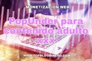 Publicidad Pop-Under para contenido adulto