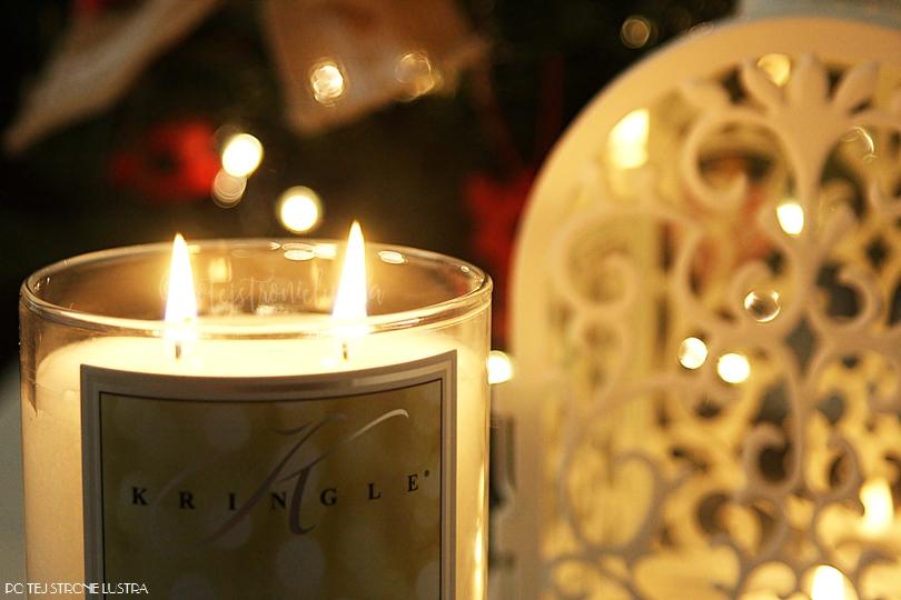 dwa knoty w świecy kringle candle