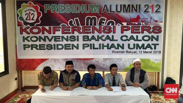 Tantang Jokowi, Presidium Alumni 212 Akan Seleksi Calon Presiden untuk Pilpres 2019