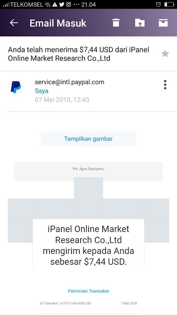 Meraup Dollar dari internet Lalu ditabung di Paypal