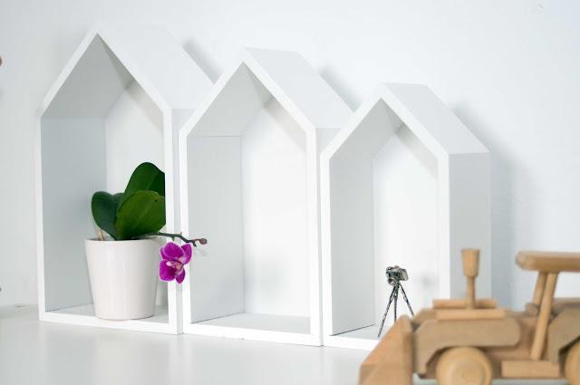 półki domki netto do dziecięcego pokoju