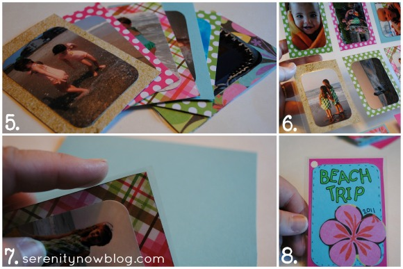 How to Make a Mini Keyring Photo Album, from Serenity Now blog