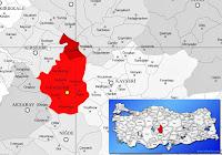 Kozaklı ilçesinin nerede olduğunu gösteren harita.